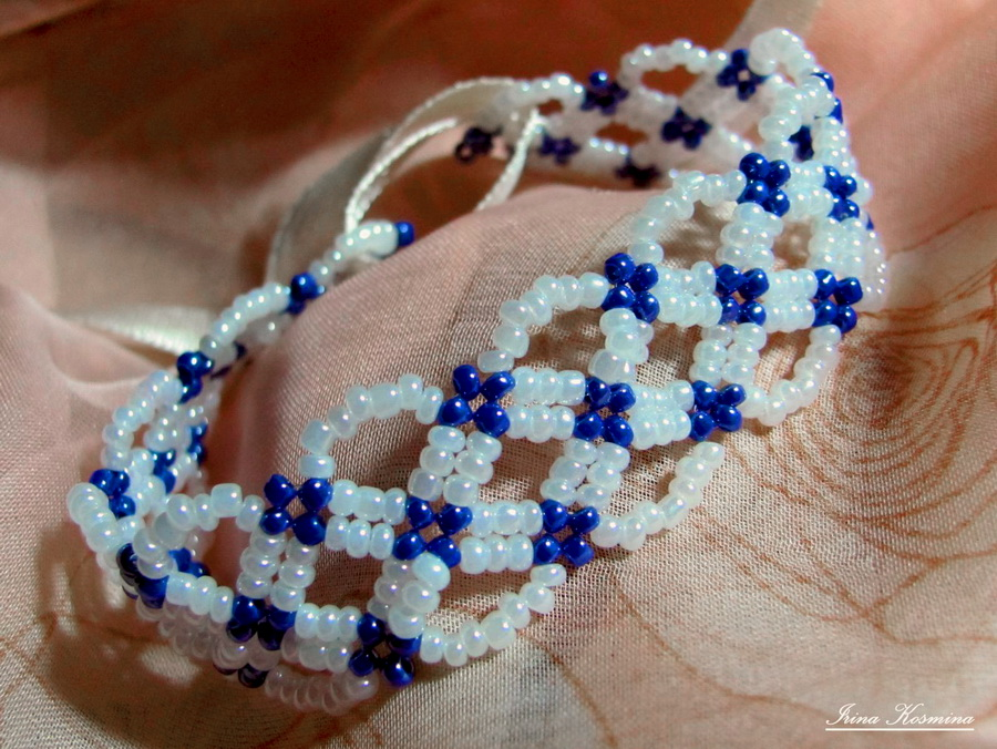 Free pattern for bracelet Santorini