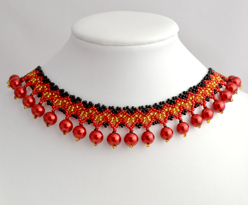 Free Pattern For Beaded Necklace Rowanberry