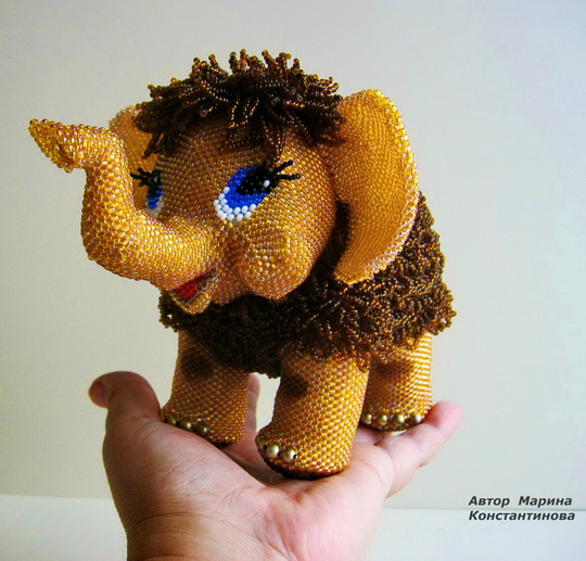 Amazing beaded toys by Marina Konstantinova