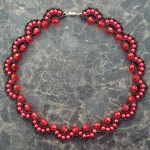 Free pattern for necklace Rosana