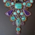 Amazing bead embroidered jewelry by Guzel Bakeeva