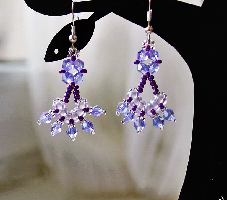 Free pattern for earrings Crocus