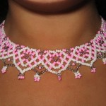 Free pattern for necklace Marshmallow