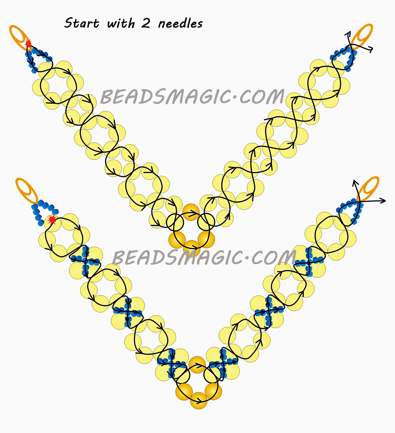 Free Pattern For Beaded Necklace Classic Beads Magic