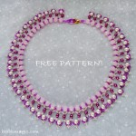 Free pattern for necklace Mariposa