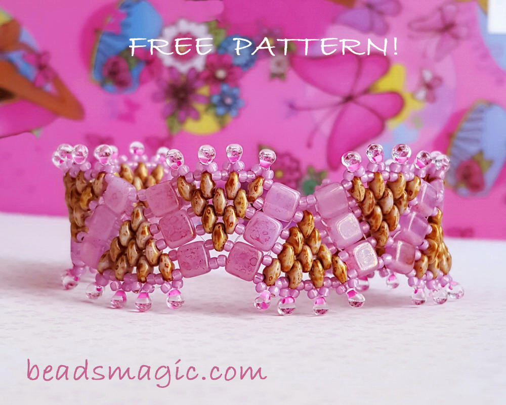 free-beading-pattern-bracelet-tutorial-beadwork-cuff-1