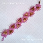 Free pattern for bracelet Princess Crown