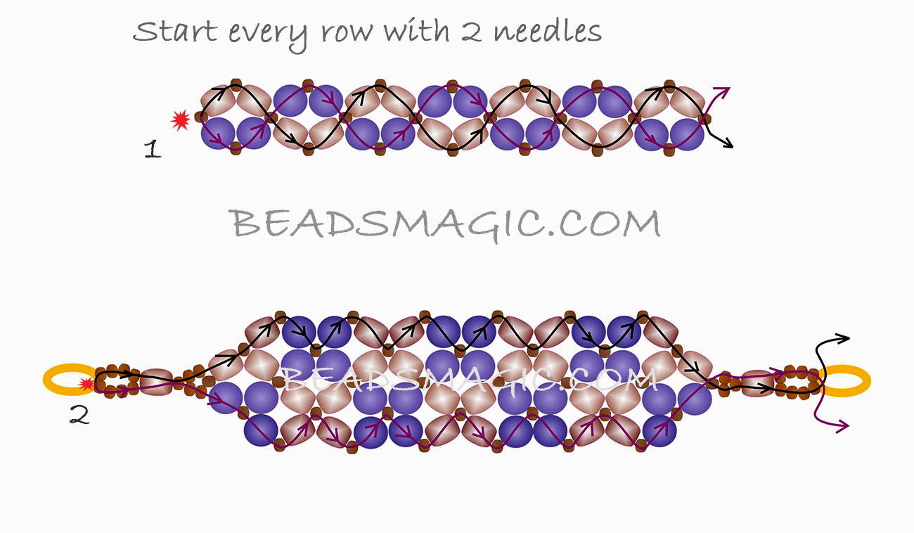 free-beading-tutorial-bracelet-cuff-pattern-pearls-2