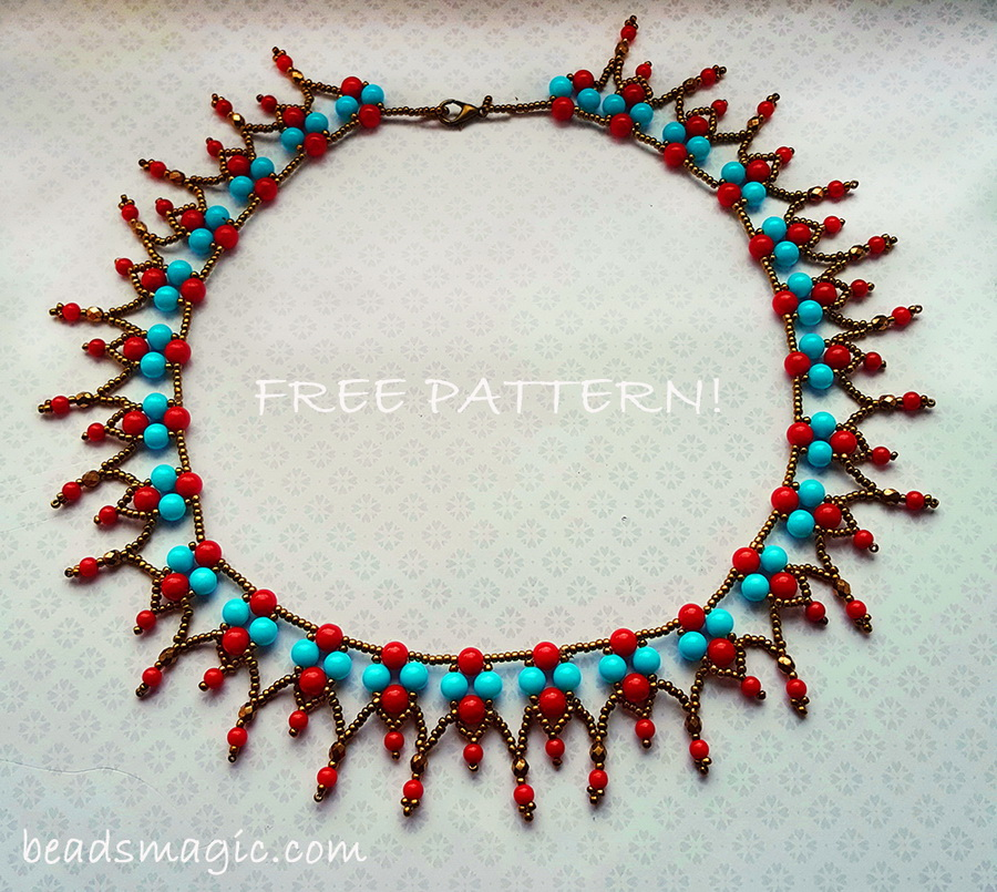 Free pattern for necklace Samba