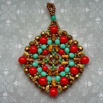 Free pattern for pendant Boho