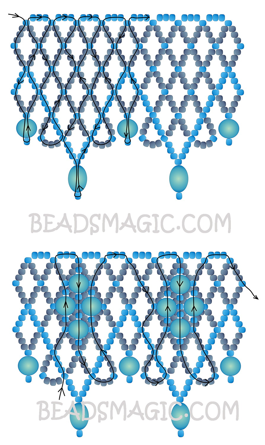 free-pattern-beading-necklace-tutorial-2