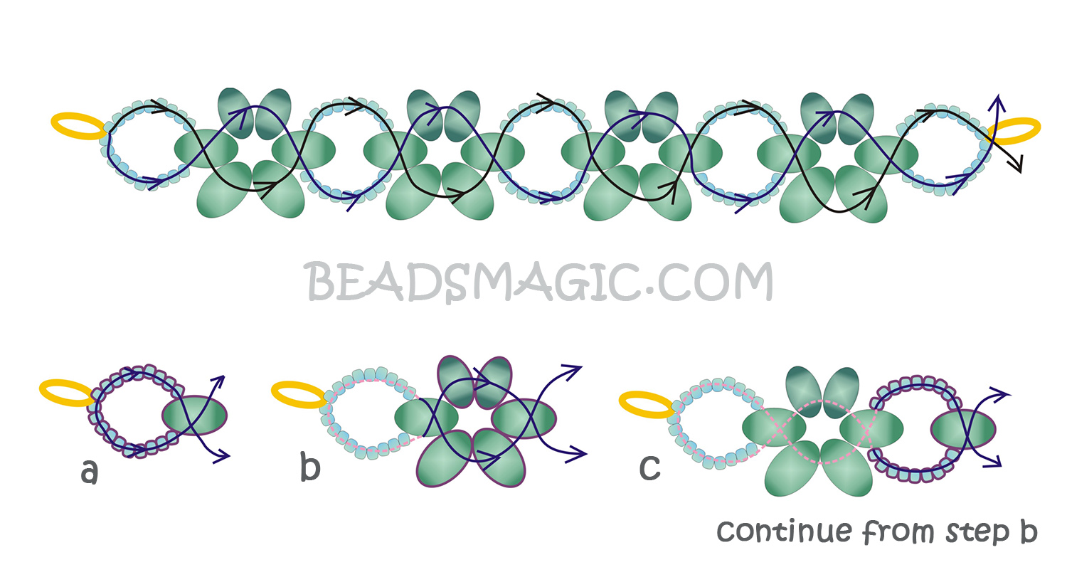 free-pattern-beaded-necklace-tutorial-green-1