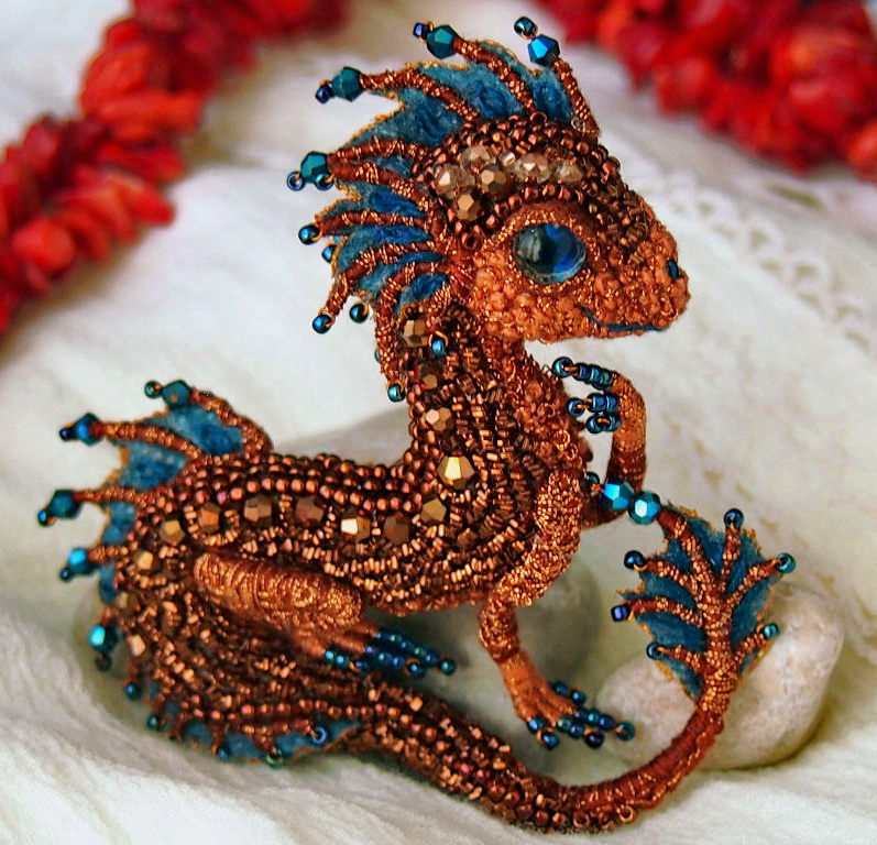 Beautiful beaded dragons by Alena Litvin