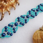 Free pattern for bracelet Blue Lagoon