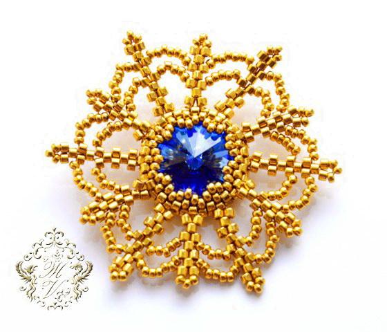 Free tutorial for snowflake with rivoli | Beads Magic
