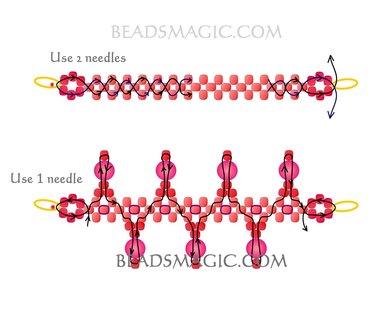 free-beading-pattern-necklace-tutorial-beads-2