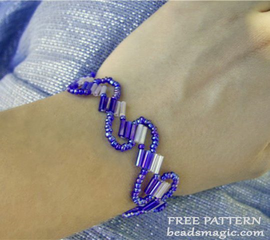 Free pattern for bracelet Lana