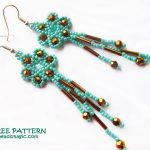 Free pattern for earrings Marcela
