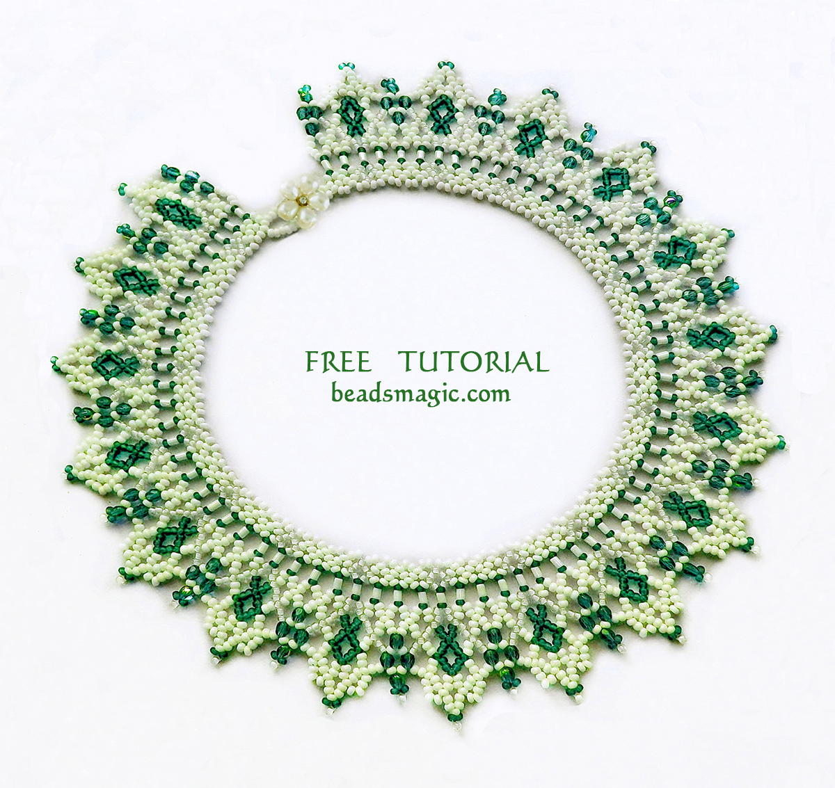 Free pattern for necklace Greenland