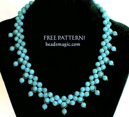 Free pattern for necklace Firoza