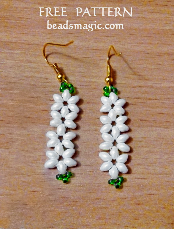 Free Pattern For Beaded Earrings Jasmine