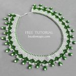 Free pattern for necklace Jasmine