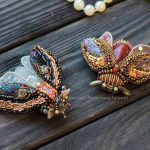 Beautiful bead embroidered butterflies and moths