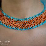 Free pattern for necklace Orange Summer