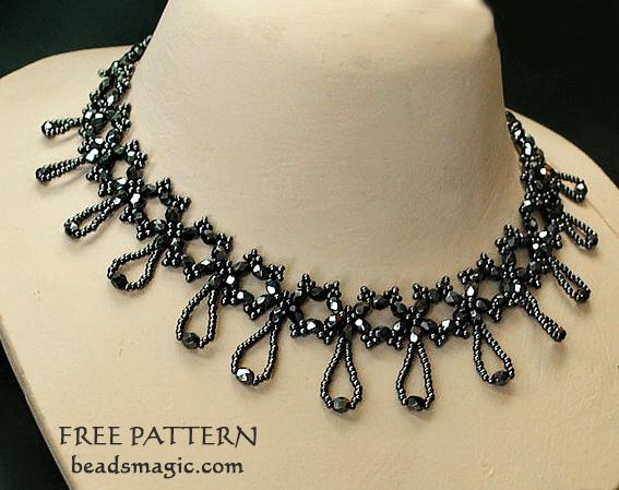 Free pattern for necklace Nova