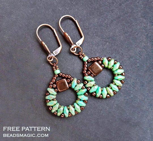 Free pattern for earrings Sanremo