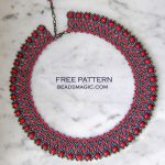 Free pattern for necklace Montale