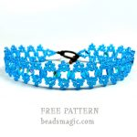 Free pattern for bracelet Blue Wave