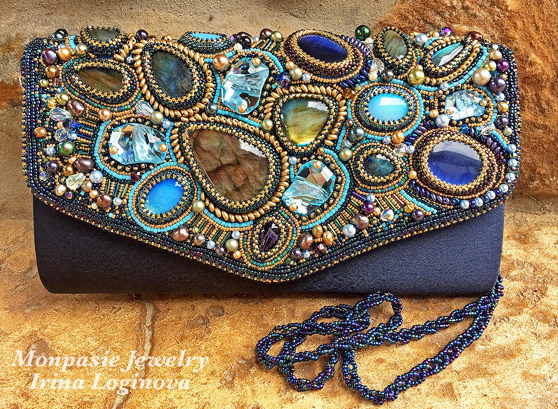 Beautiful bead embroidery bags