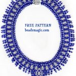 Free pattern for necklace Alicante