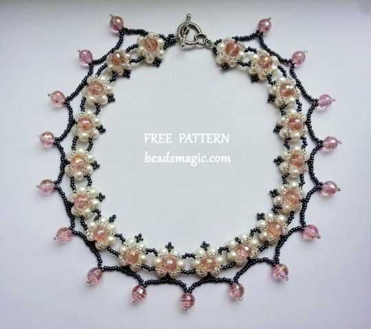 Free pattern for necklace Phenny