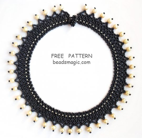 Free pattern for necklace Ula