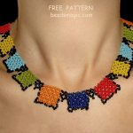 Free pattern for necklace Squares