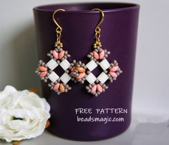Free pattern for earrings Ksenia