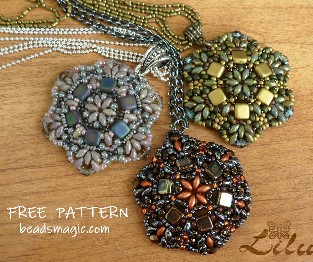 Pendant pattern beads magic pendant pattern aloadofball Image collections