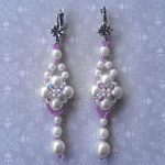 Free pattern for wedding earrings Kyoto