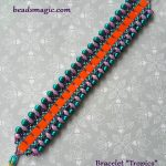 Free pattern for bracelet Tropics