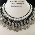 Free pattern for necklace Crystal Ice (variant by Elaine C Vechorik)