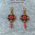 Free pattern for earrings Kira