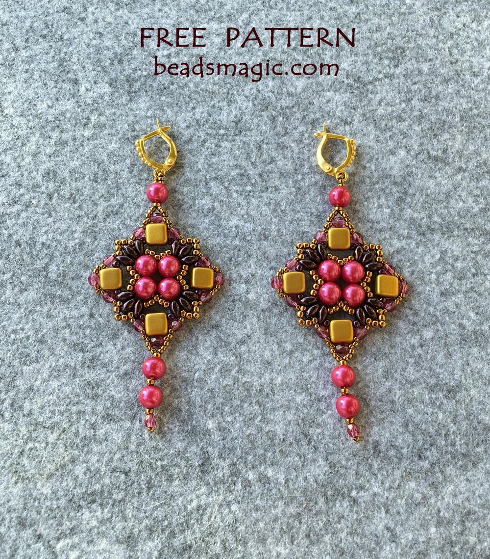 Earrings Pattern Beads Magic