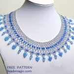 Free pattern for necklace Winter Tale