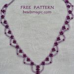 Free pattern for necklace Wild Berry