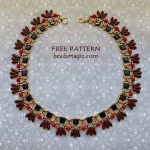 Free pattern for necklace Zena
