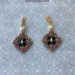 Free pattern for earrings Sara
