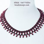 Free pattern for necklace Maroon