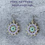 Free pattern for earrings Tenderness